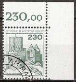 BERL 590 gestempelt Eckrand rechts oben (RWZ 230,00)