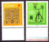 DDR 2308-2309 postfrisch mit Bogenrand unten