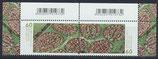 BRD 3580-3581 postfrisch Zusammendruck mit Bogenrand oben und seitlich