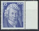 DDR 2029 postfrisch mit Bogenrand rechts