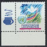 LIE 1015 postfrisch mit Eckrand links unten