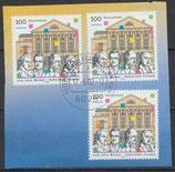 BRD 2028 (3x) gestempelt Briefstück  (2)