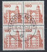BERL 539 gestempelt Viererblock