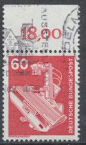 990 gestempelt mit Bogenrand oben (RWZ 18,00) (BRD)