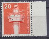 BERL 496 postfrisch Bogenrand rechts