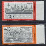 BRD 761-762 postfrisch mit Bogenrand rechts
