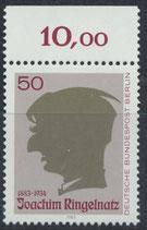 BERL 701  postfrisch mit Bogenrand oben