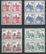 BERL 587-590 postfrisch Viererblöcke