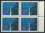 BRD 481 postfrisch Viererblock mit Bogenrand rechts