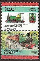 336-337 postfrisch (St. Vincent / Grenadinen Eisenbahn)