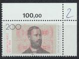 BRD 1710 postfrisch mit Eckrand rechts oben