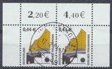 BRD 2298 gestempelt waagrechtes Paar mit Eckrändern (RWZ)