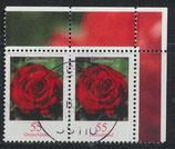 BRD 2669 gestempelt waagrechtes Paar mit Eckrand rechts oben
