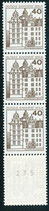 BERL 614 A R postfrisch, 5er Streifen mit rückseitger Nummer -275-
