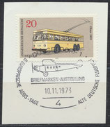 BERL 447 gestempelt auf Briefstück
