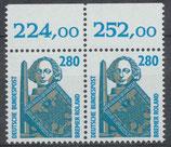 1381 postfrisch waagrechtes Paar Bogenrand oben (BRD)