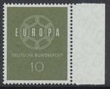 BRD 320 postfrisch mit Bogenrand rechts