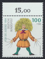 BRD 1728 postfrisch mit Bogenrand oben