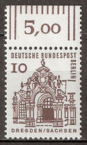 242 postfrisch mit Bogenrand oben (RWZ 5,00) (BERL)