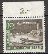 219 postfrisch mit Oberrand (RWZ 2,00) (BERL)