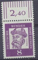 201 postfrisch Bogenrand oben (RWZ 2,40) (BERL)