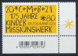 BRD 3582 postfrisch mit Eckrand rechts unten