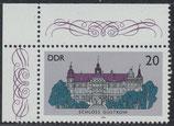 3033 postfrisch Eckrand links oben (DDR)