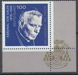 BRD 1848 postfrisch mit Eckrand rechts unten