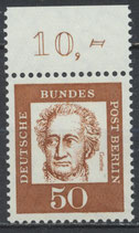 208 postfrisch Bogenrand oben (RWZ 10,00) (BERL)