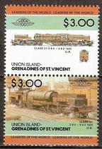 68-69 postfrisch (St. Vincent / Grenadinen Union Island Eisenbahn)