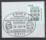 BRD 2306 gestempelt auf Briefstück