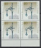 BERL 604 postfrisch Viererblock mit Bogenrand unten