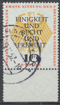 BERL  174 gestempelt Bogenrand unten