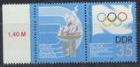 DDR 2949 postfrisch Zusammendruck mit Bogenrand links