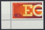 BRD 880 postfrisch mit Eckrand links unten