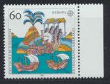 BRD 1608 postfrisch mit Bogenrand rechts