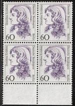 BERL 824 postfrisch Viererblock mit Bogenrand unten