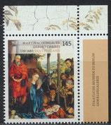 BRD 3184 postfrisch mit Eckrand rechts oben