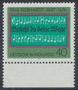BRD 893 postfrisch mit Bogenrand unten