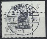 BERL 330 gestempelt mit Eckrand rechts oben