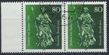 BRD 1212 gestempelt waagrechtes Paar mit Bogenrand links