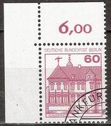 BERL 611 gestempelt Eckrand links oben (RWZ 6,00)