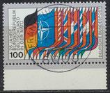 BRD 1034 gestempelt mit Bogenrand unten