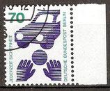 BERL 453 gestempelt Bogenrand rechts