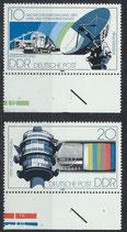 DDR 2490-2491 postfrisch mit Bogenrand unten