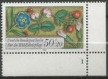 BERL 744  postfrisch  Eckrand rechts unten mit Formnummer 1