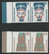 BRD 1374-1375   postfrisch  waagrechtes Paar mit Bogenrand links