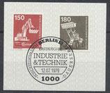BERL 584+585  gestempelt mit Ersttagssonderstempel