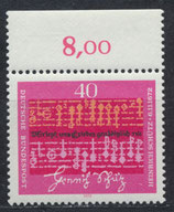 BRD 741 postfrisch mit Bogenrand oben