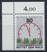 BRD 1253 postfrisch mit Eckrand links oben
